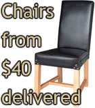 Chairs from $40 delivered - click here for more info
